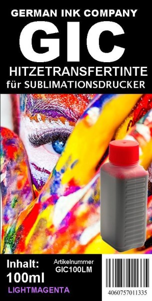 GIC - Hitzetransfertinte | Sublimationstinte in 100ml Flasche - Farbe LIGHTMAGENTA